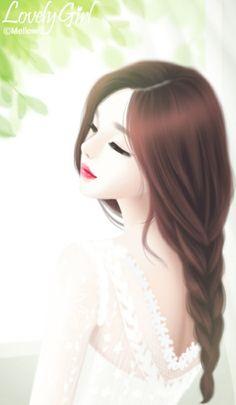 Enakei, girl, and lovely girl image Lovely Girl Image, Girls Image, Girly Pictures, Pictures To Draw, Anime Korea, Girly Drawings, Cute Girl Wallpaper, Cute Girl Drawing, Anime Love Couple