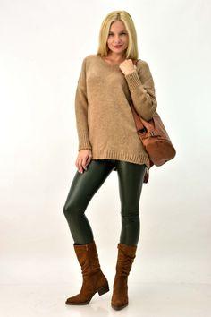 Πλεκτή μπλούζα με v oversized | Γυναικεία ρούχα - Νέες Αφίξεις | POTRE Sweaters, Collection, Dresses, Fashion, Vestidos, Moda, Gowns, Sweater, Pullover