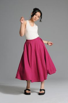 Pink easy design long skirtmore colour and size by thesimpson, $58.00