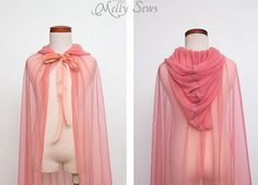 So cute! How to make a fairy princess cape - Easy DIY tutorial by Melly Sews