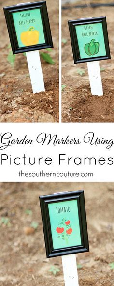 It's always a shame when you have worked so hard to plant different vegetables or flowers, but then you can't remember what each one is. Now you can use picture frames and make your own garden markers to keep you organized. Check out the full directions at thesoutherncouture.com.