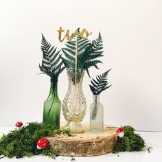 Woodland wedding inspiration, forest weddings, woodland centrepieces, woodsy table decor, #woodlandweddings #rusticcentrepieces #woodlanddecor