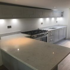 Monaco Carrara- Bishops Stortford, Herts - Rock and Co Granite Ltd Cabinet Colors, Carrara, Monaco, Granite, Kitchen Cabinets, Home Decor, Marble, Interior Design, Home Interior Design