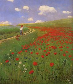 Pal Szinyei Merse: A field of poppies ; Hungarian National Gallery