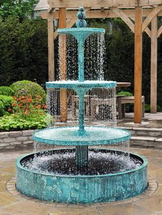 The Crucello tiered water fountain> New for 2012, unusually classical for us