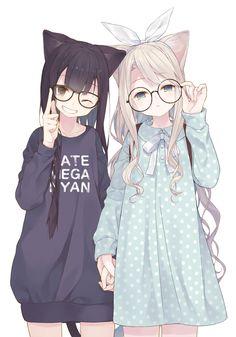 Anime Neko Girls (⁎˃ᆺ˂) Anime Girl Neko, Manga Girl, Fille Anime Cool, Lolis Neko, Cool Anime Girl, Chica Anime Manga, Yuri Anime, Cute Anime Pics, Anime Cat