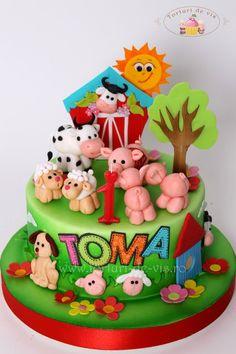 Torturi - Viorica's cakes: Tort pentru mot Ferma animalelor