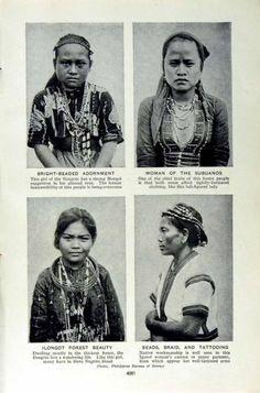 Antique Print of c1920 Woman Subuanos Native People Kalinga Benguet | eBay