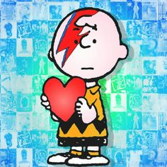 Charlie brown missing David Bowie RIP. #Bowie✌the stars look very different today
