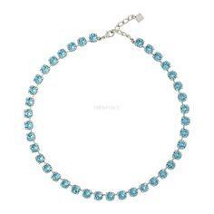 Small Crystal Necklace in Swarovski Crystal, Fuschia