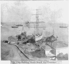 California History, Vintage California, San Francisco Earthquake, Jules Verne, San Francisco California, Set Sail, Photography 101, Tall Ships, South Beach
