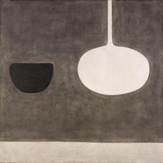 "William Scott (1913-1989) ""Still Life Within a Space"", 1970. Gift of Richard Brown Baker. © William Scott Foundation 2011. Courtesy Museum of Art Rhode Island School of Design, Providence. #GISSLER #interiordesign"