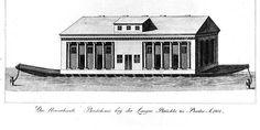 Berlin 1802 Das Welpersche Badeschiff bei der Langen Bruecke