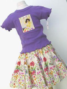 Flower garden girl's skirt set  Handmade tiered by BerryPatchUSA, $58.00