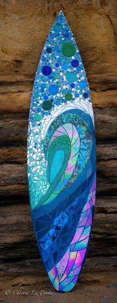 Spirit surfboard Mosaic & Fused Glass Artist