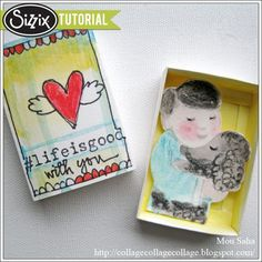 Sizzix Die Cutting Tutorial | Happiness in a Little Matchbox by Mou Saha