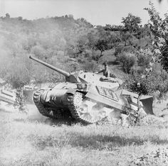 M10 tank destroyers of 'A' Troop, 111st Battery, 72nd Anti-Tank Regiment, 6th Armoured Division, in the Arno valley near Florence, 11th - 14th August 1944
