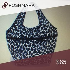 Authentic Kate Spade Black and White Animal Hobo style bag , holds plenty , very stylish kate spade Bags Hobos