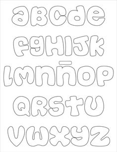 Alphabet Letters To Print, Alphabet Writing, Bubble Letters, Alphabet And Numbers, Alphabet Fonts, Abc Alphabet, Hand Lettering Styles, Doodle Lettering, Lettering Tutorial