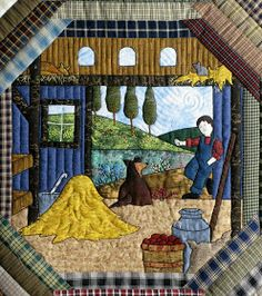 The Secret Life of Mrs. Meatloaf: Jan Z. and her amazing quilt | This is Jan Z. and her amazing quilt. It is beautifully appliqued and embroidered with so many little details! She says it is a Piecemakers pattern from 2003 that she has been working on for a long time.