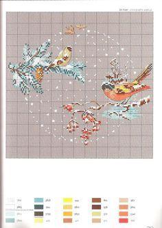 velvetstreak.gallery.ru watch?ph=bP8b-gdVgq&subpanel=zoom&zoom=8 Just Cross Stitch, Modern Cross Stitch, Cross Stitch Patterns, Christmas Cross, White Christmas, Le Point, Cross Stitching, Needlework, Projects To Try