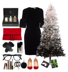"""Merry Christmas 2016"" by dami-o ❤ liked on Polyvore featuring Acqua di Parma, Givenchy, Christian Louboutin, Ann Taylor, Oscar de la Renta, Laura Mercier and Pembe Club"