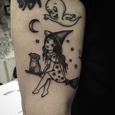 Dream Tattoos, Time Tattoos, Future Tattoos, Body Art Tattoos, New Tattoos, Sleeve Tattoos, Cool Tattoos, Traditional Tattoo Halloween, Traditional Tattoo Woman