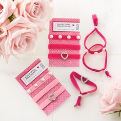 Lovely ties for your hair, wrist or both!