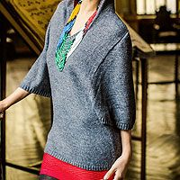 Alpaca blend hoodie sweater, 'Gray Trujillo Lady' by NOVICA #FairTuesdayGifts I love this... for myself...