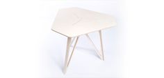 A small, lightweight, elegant table (as featured in Wired magazine) for use in… Cnc Plans, Workspace Design, Elegant Table, Furniture Design, Stool, Vanity, Make It Yourself, Plywood, Zero