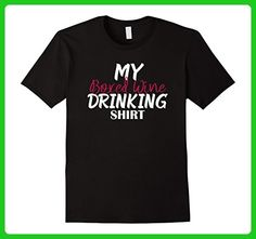 Mens My Boxed Wine Drinking Shirt Funny T-shirt Tee Gift Medium Black - Food and drink shirts (*Amazon Partner-Link)