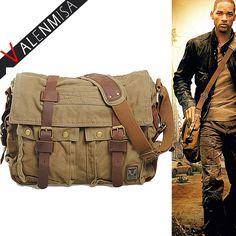 Men Canvas <font><b>Messenger</b></font> Bags Designer Brand Vintage Crossbody Bags Laptop Bags I AM LEGEND Military Handbags Satchel Shoulder Bags