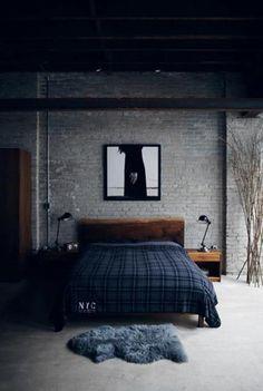 Industrial Bedroom Designs 7