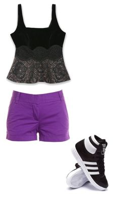 """""""Casual wear"""" by miakaly on Polyvore featuring J.Crew, Bebe and adidas"""