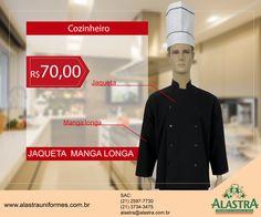 Nossa semana de promoções de Jaquetas de Chef, vai perder?