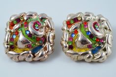 Rare Vintage French Couture Signed by TheTreasureBoxOrna French Costume, Vintage Jewelry, Unique Jewelry, Clip On Earrings, Vintage Designs, Costume Jewelry, Jewelry Making, Couture, Trending Outfits
