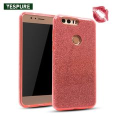 YESPURE Cell Phone Accessories Bling Phone Cases Fashion Shinning Glitter Back Cover for Huawei Honor 8 TPU Soft Phone Cover Bling Phone Cases, Beautiful Cover, Phone Cover, Cell Phone Accessories, Glitter, Fashion, Moda, Fashion Styles, Fashion Illustrations