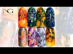 "@pelikh_Осенний маникюр ""Кленовый лист тушью"" / Manicure for autumn: leaves - YouTube"