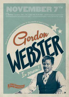 Gordon Webster - Vintage poster #poster #vintage #swing #graphic #lindyhop #bigband