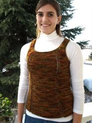 Eyelet Sleeveless Sweater pattern by Briar Rose Fibers