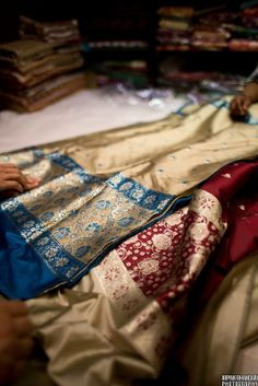Silk sarees (saris), India