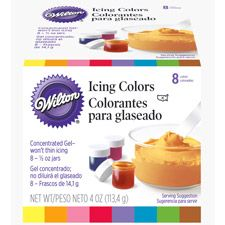 8 Icing Colors Set- Wilton has Brown dye