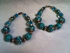 Global Sea light blue bracelet  BGS05 by BraceletsinBloom on Etsy, $25.89