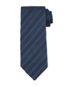 Textured Stripe Silk Tie, Blue by TOM FORD at Neiman Marcus.