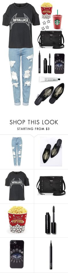 """Distressed Denim"" by enamorado-dina ❤ liked on Polyvore featuring Topshop, WithChic, Botkier, West Bend, Bobbi Brown Cosmetics, Kenzo, NARS Cosmetics and L:A Bruket"
