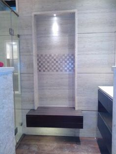 Appywood design in washroom