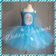 Elsa Tutu Dress Party Fancy Dress Xmas & Play Unusual Frozen Tutu Dress. Patch. #DiddyDarlings #CasualFormalParty