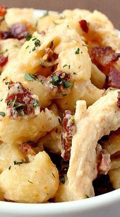 Chicken Marsala Mac and Cheese