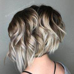 Wavy+Blonde+Balayage+Bob Pinned for color, not cut.