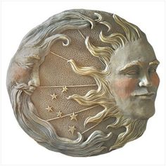 Sun moon and stars wall plaque - fabulous!